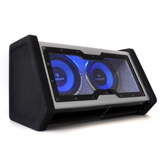 SUB-2x10-42 passiver Dual-Auto-Subwoofer 2000W max. LED-Lichteffekt Acryl