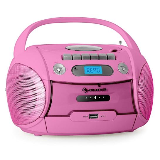 Boomgirl Kassettenplayer USB MP3 Pink