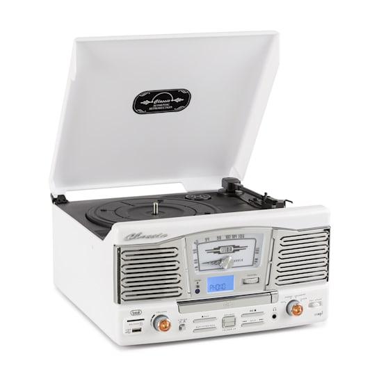 TT 1065 Retro Hifi Vinyl Stereo System CD SD USB Radio
