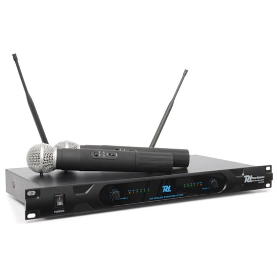 Power Dynamics PD722H 2-channel UHF Wireless Microphone System