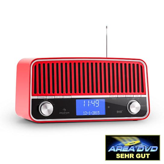 Nizza DAB+ Retro FM Radio Bluetooth AUX 2.1 Subwoofer Red