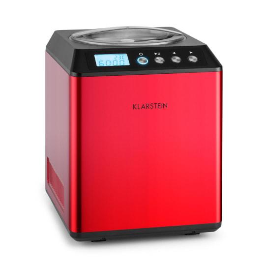 Vanilla Sky Ice Cream Machine Compressor 2L Stainless Steel 180W Red