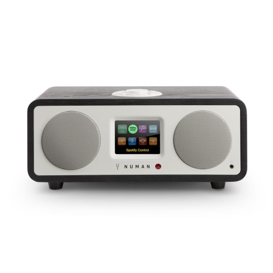 One - 2.1 Design Internet Radio 20W Bluetooth Spotify DAB+ Eiche schwarz