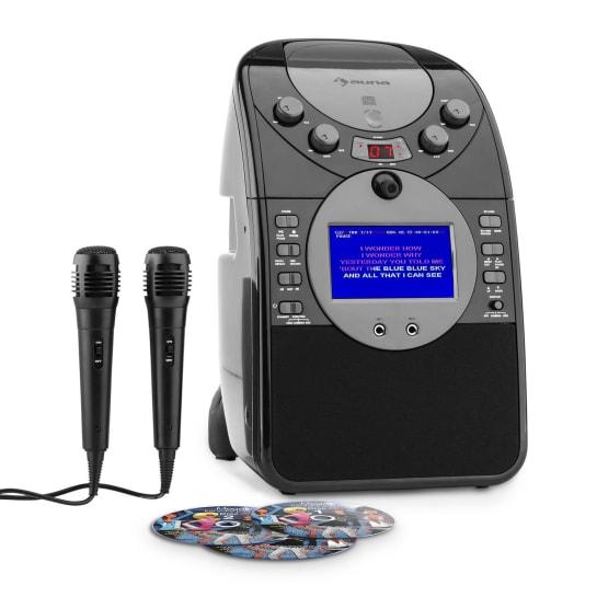 ScreenStar karaoke-installatie camera CD USB SD MP3 incl.2 x microfoon 3x CD+G