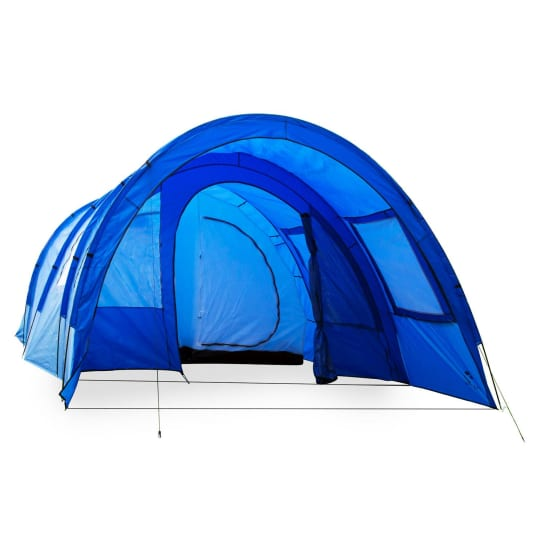 Mozori Tunnel Tent 4 People 305x205x475 cm Polyester 5000mm Blue