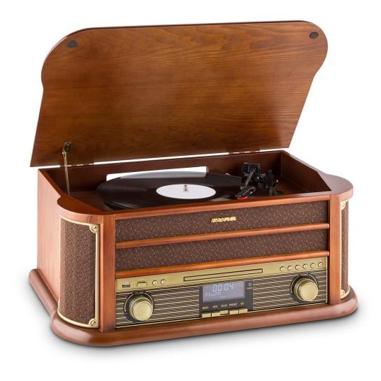 Belle Epoque 1908 DAB Retro-Stereoanlage Plattenspieler DAB+ Bluetooth