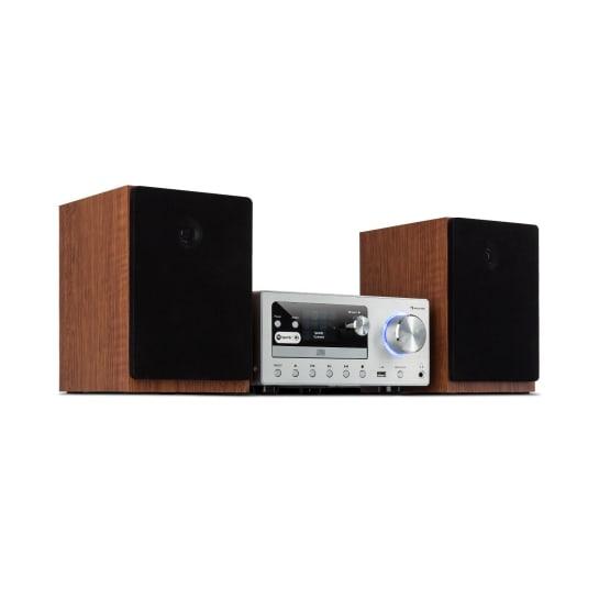 Connect System Stereoanlage 80 W max. Internet/DAB+/ FM Radio CD-Player silber