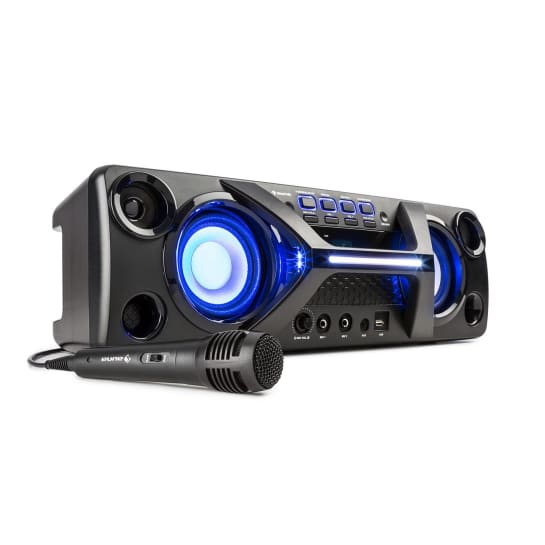 Ultrasonic BT Boombox Bluetooth 2x 20W LCD Display Karaoke-Funktion schwarz