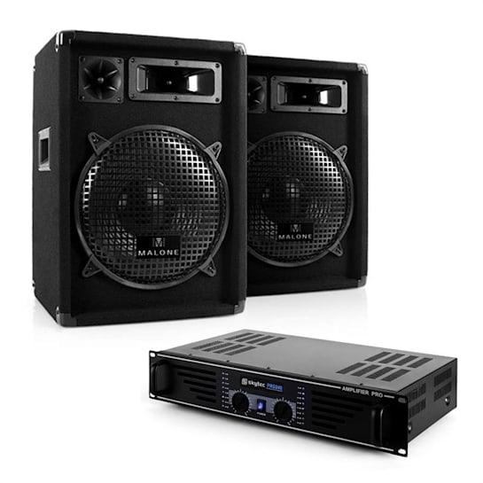 Nizza Nights Equipo DJ PA 1 x Amplificador 2 x Altavoz