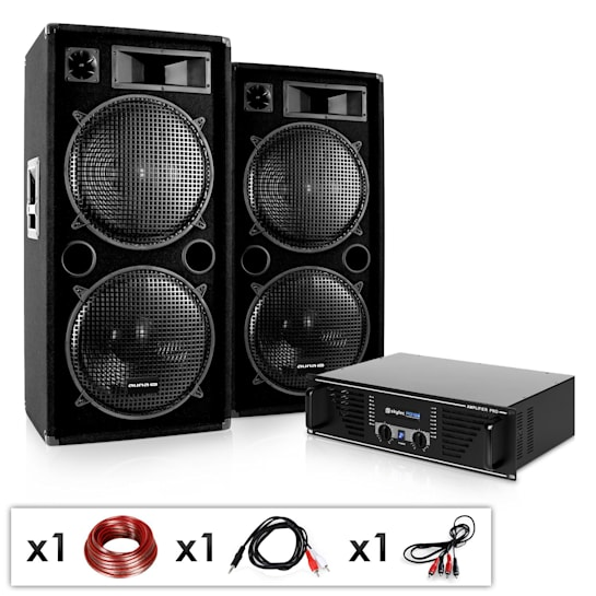 "DJ PA Komplettset ""Phuket Pulsar"" Verstärker 2x Boxen"