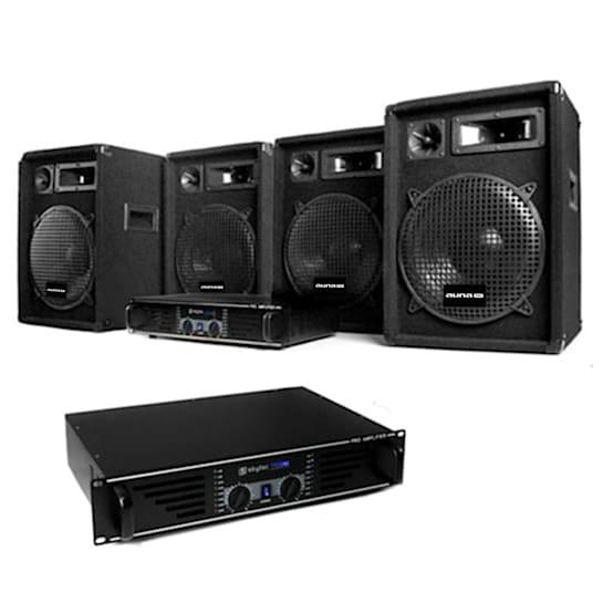 2400W dj set pa completo casse amplificatore cavi disco