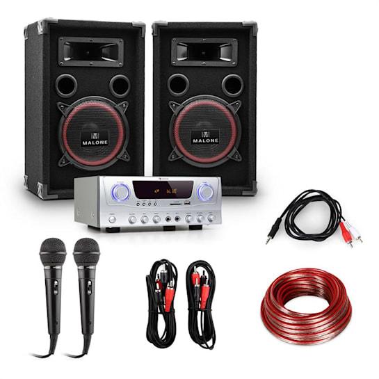 EASY - Aparelhagem PA-DJ Set colunas, amplificador, micro