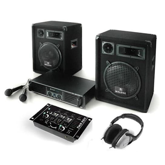 Bass Boomer Set Audio DJ completo 800W