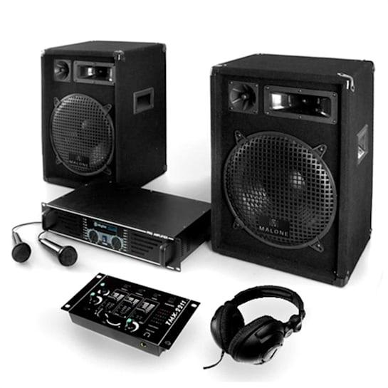 Dj set amplificatore casse mixer microfoni 1200W kit pa