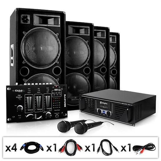 "PA Anlage ""Bassbrigade USB"" Set Verstärker Boxen Mixer"