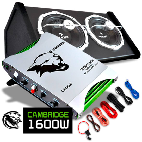 """Car Hifi Set """"Cambridge"""" 0.1 Anlage 1600W Endstufe und Bass"""