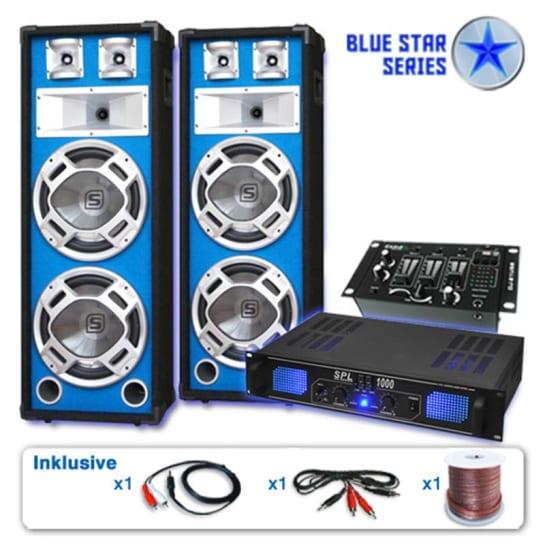 "PA Set Blue Star Series ""Basskern USB"" 2800W PMPO Verstärker"