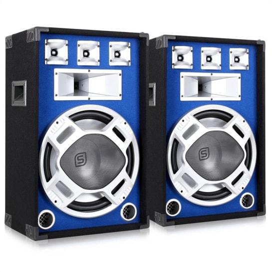 """2 casse acustiche diffusori led pro dj altoparlanti 15"""""""