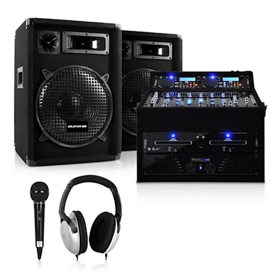Set DJ PA Rack Star Jupiter Shock 800W Rackcase Anlage