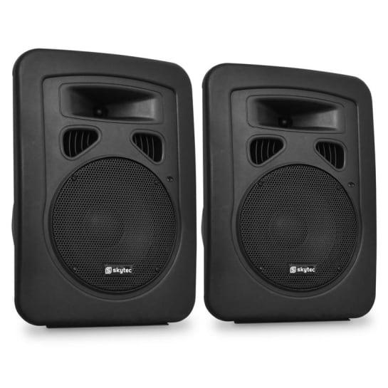 Dvojice pasivních DJ PA reproduktorů Skytec, 20 cm, 2x 300W