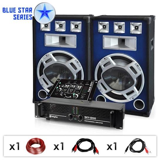 "Blue Star Series ""Bassmix"" sistema audio DJ 1600 Watt"