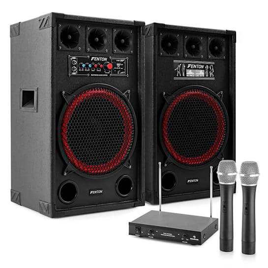 "Karaoke set ""STAR-Kreuzberg"" PA reproduktory, bezdrátový mikrofon, 800W"