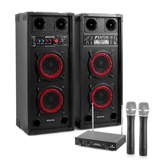 Karaoke set STAR-Wedding, reproduktory, 2 bezdrátové mikrofony, 600 W