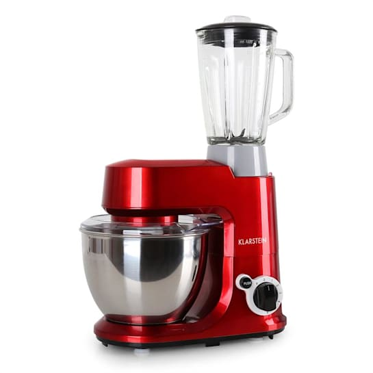 Carina Rossa Set 800W Stand Mixer + 1.5L Blender Red