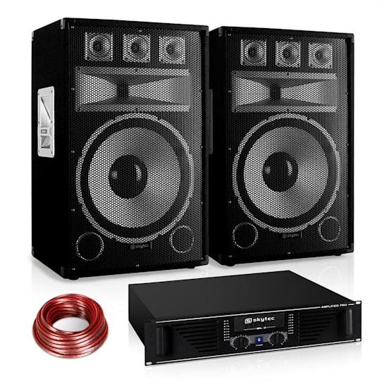 "PA Set Saphir Series ""Warm Up Party"" 15PLUS Paar 15"" Boxen & Verstärker 1200W"