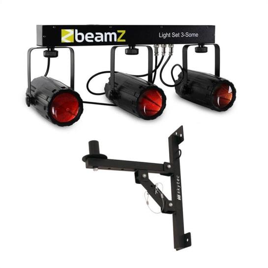 3 Some Effetto luce LED Set 5 pezzi con staffa a parete