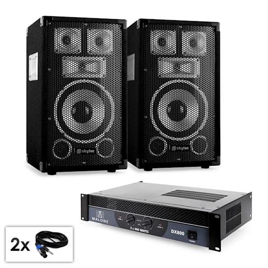 "PA Set Saphir Series ""Warm Up Party TX8"" Paar 20cm Boxen & Verstärker 800W"