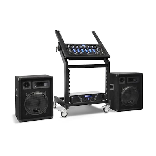 "Conjunto de PA DJ Rack Star Series ""Pluto Gravity"" Bluetooth 200 Pessoas"