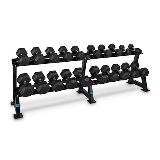 Dumbbell Rack Set, stojan na čink(20míst), sada, 10 x pár činek