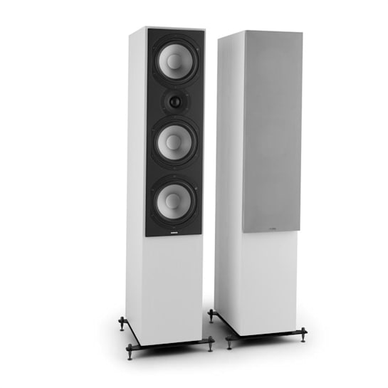Reference 801 Three-Way Speaker Pair White incl. Cover Silver