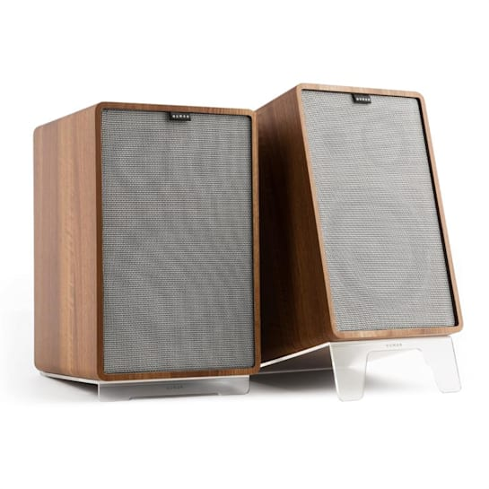 Retrospective 1978 MKII 3-Way Bookshelf Speaker walnut incl. Cover grey