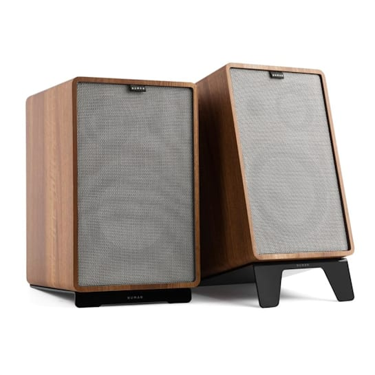 Retrospective 1978 MKII 3-Way Bookshelf Speaker walnut incl. Cover gray