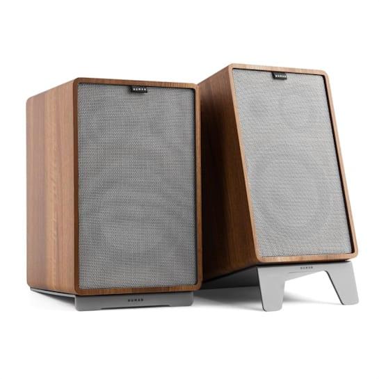 Retrospective 1978 MKII 3-Way Bookshelf Speaker walnut incl. Cover grey