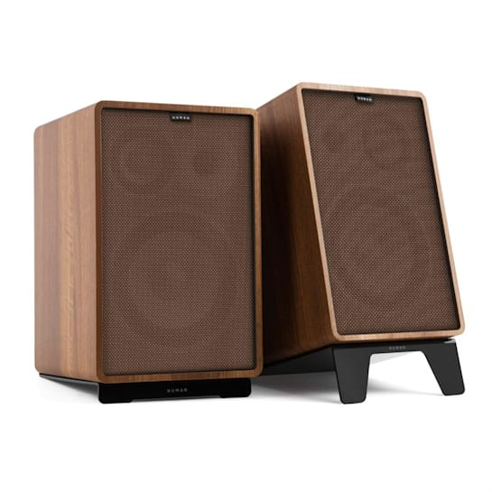 Retrospective 1978 MKII 3-Way Bookshelf Speaker walnut incl. Cover brown