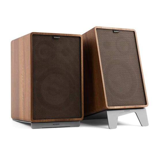 Retrospective 1978 MKII 3-Way Bookshelf Speaker walnut Cover dark brown