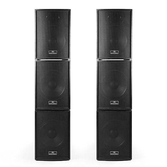 Black Box 6 Active PA Speaker Set 4 x Subwoofer 2 x Satellite incl. PA Cables