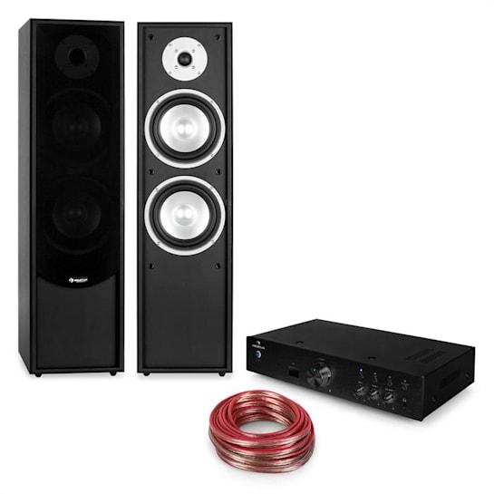 Linie-300 Set HiFi Bluetooth Amplificatore Altoparlante Verticale Passivo Nero