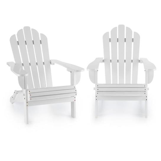 Vermont Set 2 Sedie da Giardino Stile Adirondack Abete bianco