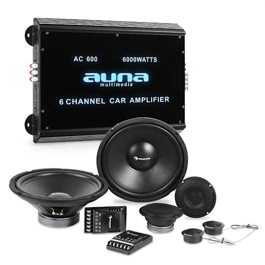 CS-Comp-12 Car-HiFi-Komplett-Set 3-Wege-Lautsprecher Set 6-Kanal Auto-Endstufe