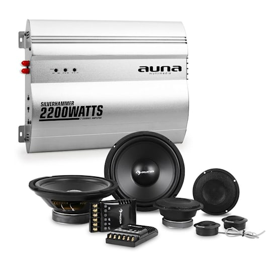 Silverhammer Set Hi-Fi Car Amplificatore 2 Canali Altoparlante