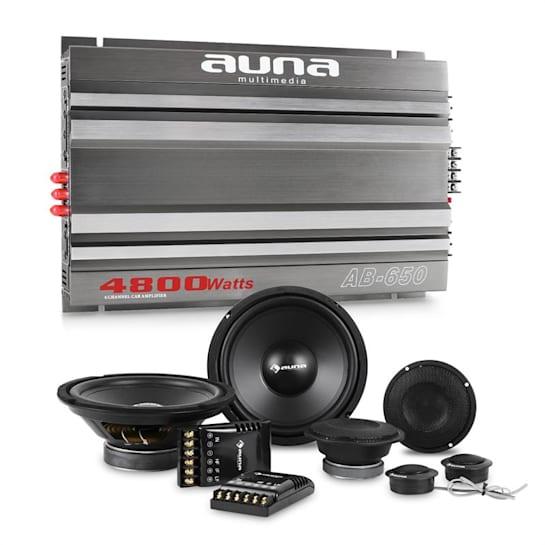 CS-Comp-8 Set Hi-Fi Car Amplificatore 6 Canali Altoparlanti