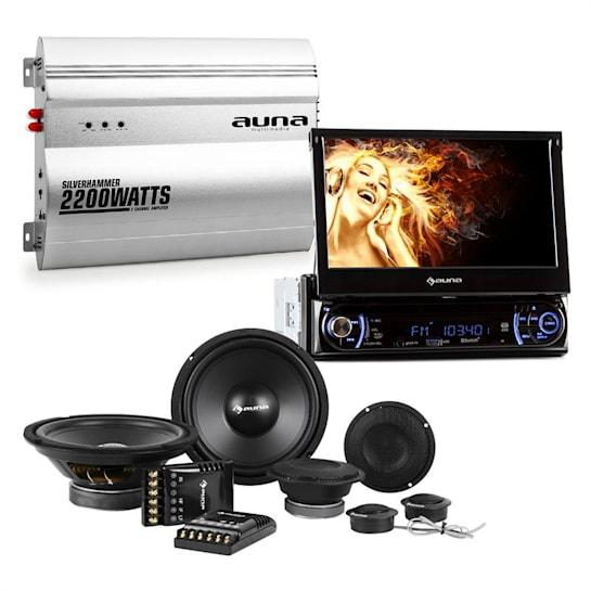 "MVD-240 Set Hi-Fi Car Autoradio Touchscreen 7"" Altoparlanti Amplificatore"