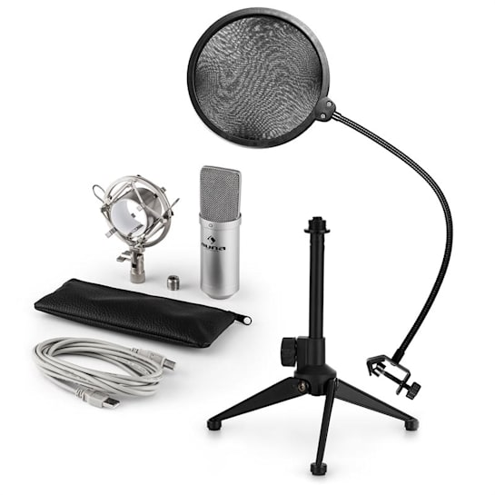 MIC-900S USB Microphone Set V2 | Condenser Microphone | Pop shield| Tabletop Stand