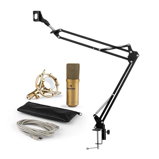 MIC-900G USB Mikrofonset V3 Kondensatormikrofon + Mikrofonarm Niere gold