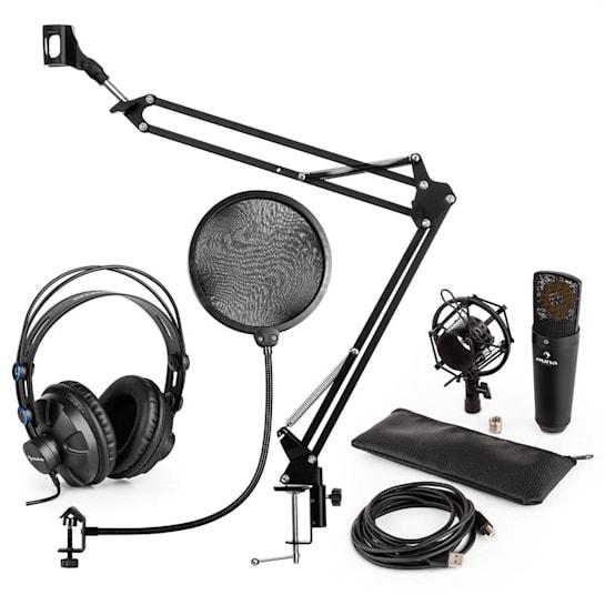 MIC-920B USB Microphone Set V4 Headphones Microphone Microphone Arm Pop Filter