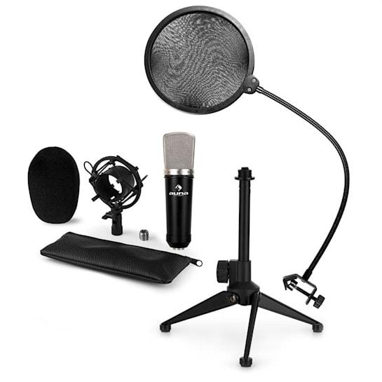 CM003 Set Microfono USB V2 Microfono A Condensatore XLR Stativo Filtro Antipop
